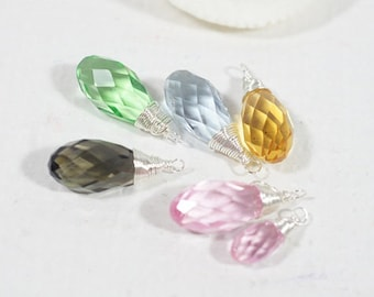 Wire Wrapped Briolette Beads Add Charm On Charm Dangle Beads Peridote Briolette Jewelry Supplies