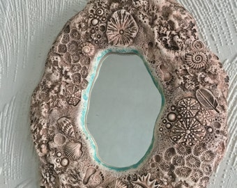 Handmade ocean-themed mirror