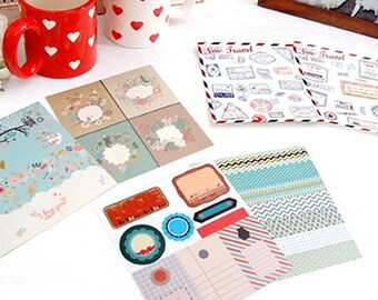 Variety Deco Stickers - 6 sheets (5.2 x 5.7in)