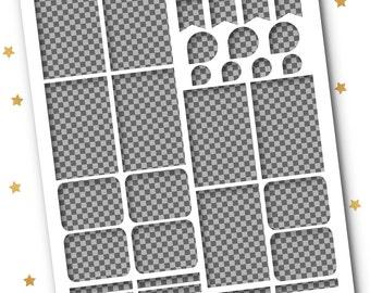 Big Happy Planner Transparent Assorted Template // Transparent .PNG // MAMBI Big Happy Planner Stickers