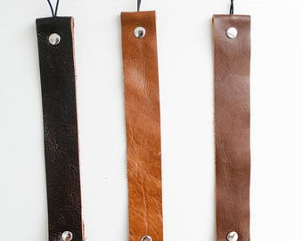 Original Leather Pacifier Clip