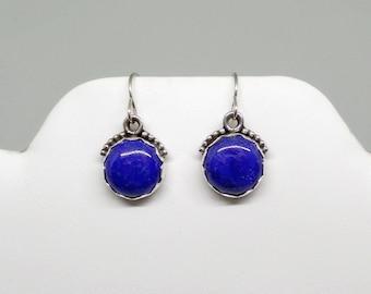 Lapis Lazuli Earrings, Sterling Silver Lapis Earrings, Silver Lapis Earrings, Blue Lapis, Under 75, Gift For Her, Blue Earrings, 1634