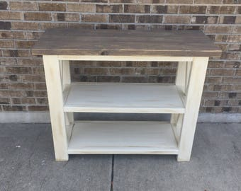 Rustic X side table ***local pick up only***