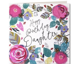 SALE 20% OFF Chroma Collection - Daughter Birthday Card - Happy Birthday Daughter - Birthday Card for Her - Birthday Greeting Card - CH13