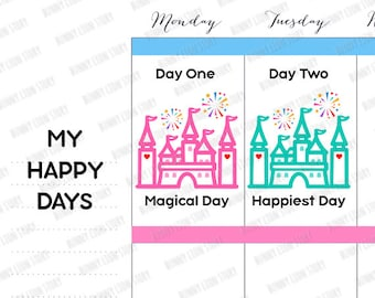 30002   8 The Most Magical Happiest Place on Earth Moment Achievement Appointment Reminder Schedule Kawaii Planner Agenda Journal Stickers