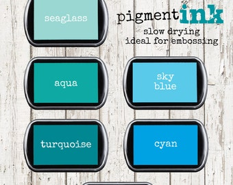 TEAL TURQUOISE Color Box Pigment Archival Ink Pad
