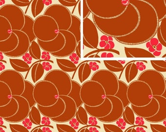 Heart Bloom - NUTMEG - PER 25CM - Amy Butler - HAPI - PWAB123 - 100% Cotton Quilt Fabric