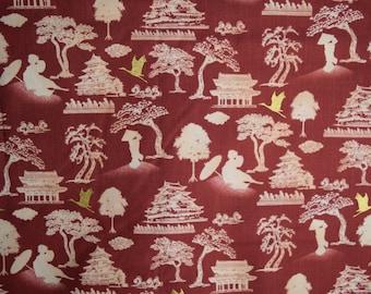 Asian Scenic Fabric
