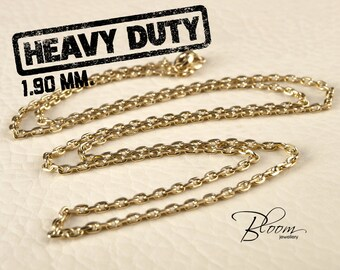 14K Gold Chain Necklace Mens Gold Chain for Men Anchor Gold Chain Solid Gold Durable Gold Chain Mens Chain Necklace Mens Anchor Chain