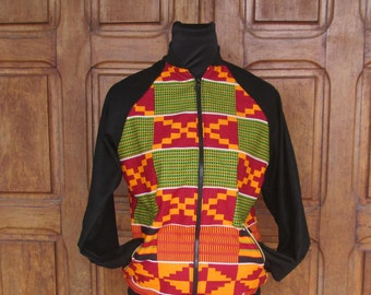 KUMASI KENTE Bomber jacket monucx