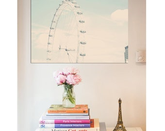 London Photography Print - London Eye, Pastel photography
