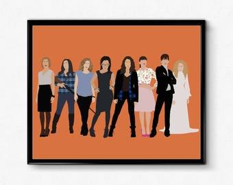 Orphan Black Poster- TV Show Poster, Minimalist Print Wall Art