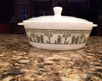 Vintage Glasbake casserole dish with lid