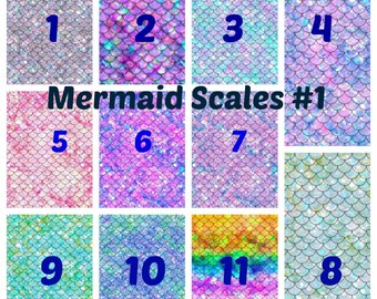 Printed Vinyl, Mermaid Scales 1, Pattern Vinyl, Adhesive Vinyl, HTV Vinyl, Heat Transfer Vinyl, Outdoor Vinyl, Mermaid, Iron On Vinyl, Decal
