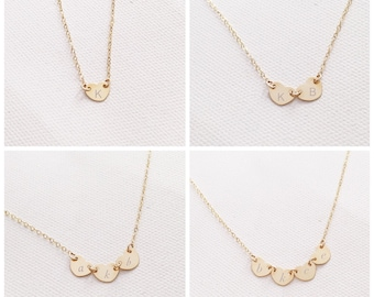 Tiny Heart Necklace / Personalized Heart Necklace / Gift for her / 14k Gold Filled / Sterling Silver