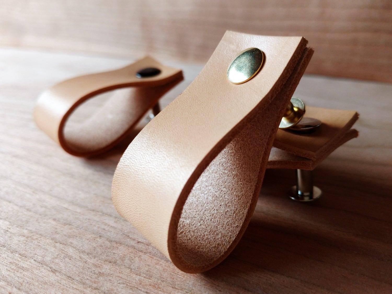 Leather Pulls Drawer Dresser Cabinet Door Handles. Cabinet