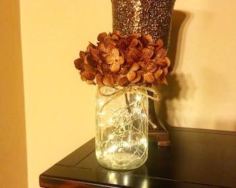 Mason Jars, Mason Jar with Lights, Firefly Lights, Mason Jar Decor, Rustic Home Decor, Rustic Wedding, Rustic Wedding Decor, Wedding Decor
