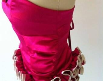 Pink corset bodice