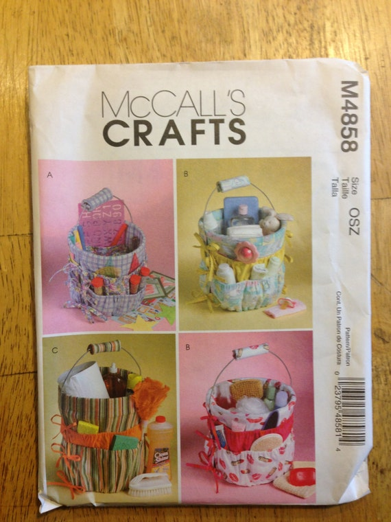 McCalls Crafts Sewing Pattern 4858 Bucket Organizers from ...