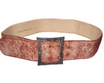 Vintage Robako Ceintures ® leather belt brown 9525 95 38 Made in Italy 3156