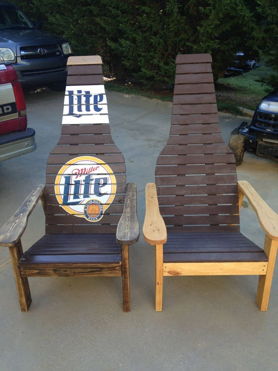 Beautiful Outdoor Furniture Wood Chair Beer Bottle Adirondack Chair