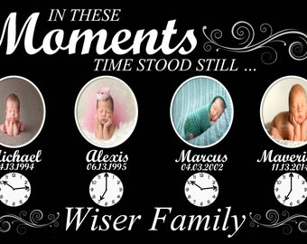 In These Moments Time Stood Still Family Poster
