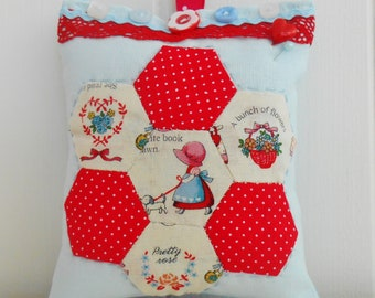 Hexie Patchwork Pincushion