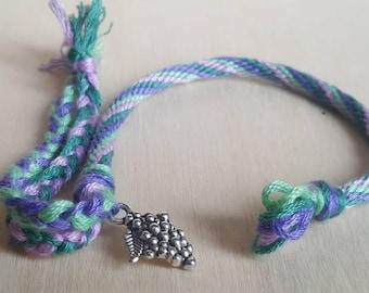 Friendship Bracelet with Grape Charm
