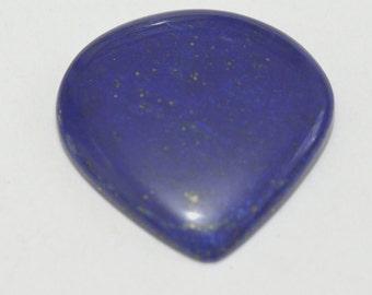 35mm Lapis Lazuli blue heart cabochon 54ct