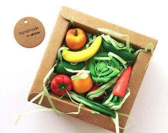Micro-set of 10 miniatures fruits & Vegetables