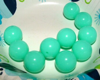 Large Aqua Beads Gumball Acrylic Bubblegum Beads 20mm Round Bead Supplies Jewelry Making