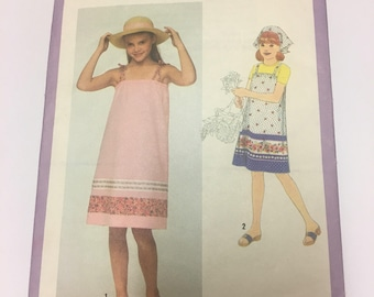 Girl's Sundress and Scarf Sewing Pattern
