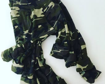 Baby Clothes, Camo Big Butt Pants, Baby Boy Clothes, Baby Pants