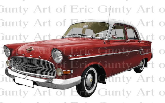 Red 1950s Classic Car Birthday - Edible Cake and Cupcake Topper For Birthday's and Parties! - D22959