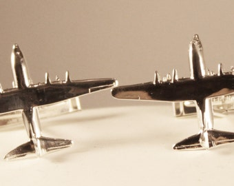 C-130 Hercules Tie-Tack/Pin/Pendant/Charm/Earrings/Cuff Links in Sterling Silver