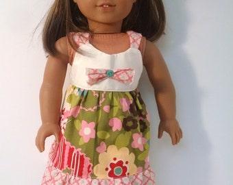 "Boho Dress for any 18"" doll like the American Girl"
