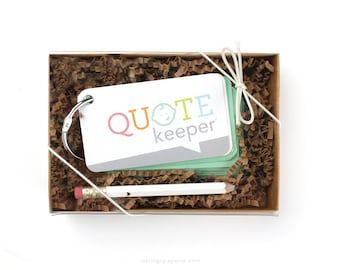 Quote Keeper™ Gift Set // Mint Green // Quote journal, baby sprinkle gift, baby shower, baby book, baby album, new mom gift, quotekeeper