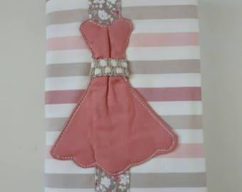 Book cover fabric bookmark cotton dress