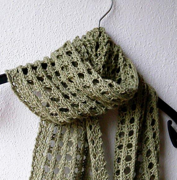 Summer Scarf Knitting Pattern Lace Scarf Easy Pattern Aran Yarn