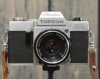 Vintage Beseler Topcon Auto 100 35mm SLR film camera