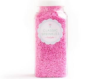8oz (1 cup) Light Pink Jimmies Sprinkles, Gluten-Free, Vegan, Skinny Sprinkles, Sugar Strands, Pastel Pink Sprinkles, Canadian Sprinkles