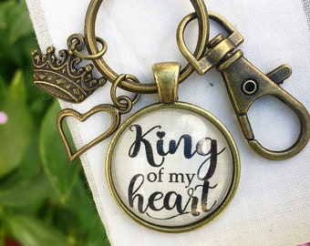 King of my Heart Keychain