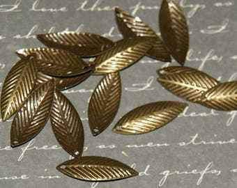 20 leaves bronze 7x21mm