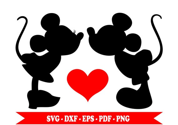 Mickey and minnie in love svg boyfriends silhouette clip thecheapjerseys Image collections