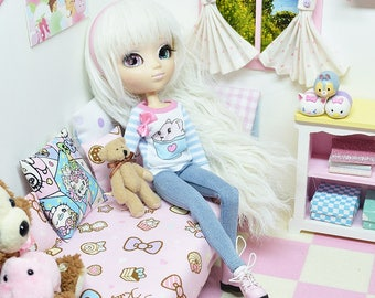 Pullip Outfit *** Bunnyccino Jeans *** DOL184 FTWR Handmade