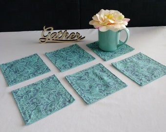 Handmade cloth coasters set of 6