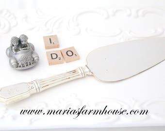 STERLING SILVER, Vintage Cake Server, Sterling Silver Handle, Vintage Wedding Cake Server