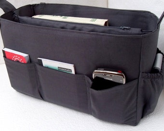 Large Purse organizer - Bag organizer insert in Gray/ Charcoal color