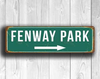 FENWAY PARK SIGN, Vintage style Fenway Park Signs, Fenway Park Signs, Boston Red Sox, Baseball Signs, baseball Gifts, Fenway, Red Sox Signs