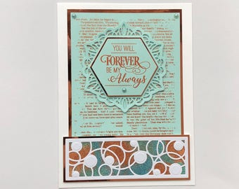 8 x 6 inch Wedding Anniversary Card